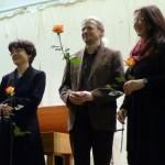 Ute Deussen mit D. Dichtiar und C. Gengenbach